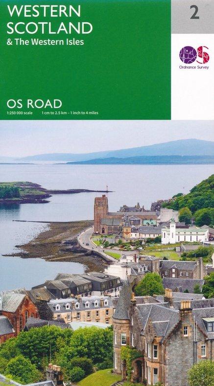 RM-2 Western Scotland, wegenkaart West-Schotland 9780319263747  Ordnance Survey Road Map 1:250.000  Landkaarten en wegenkaarten Schotland