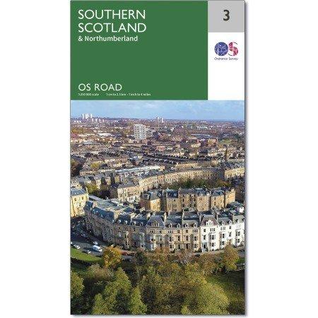 RM-3  Southern Scotland, wegenkaart Zuid-Schotland 9780319263754  Ordnance Survey Road Map 1:250.000  Landkaarten en wegenkaarten Noord-Engeland, Schotland