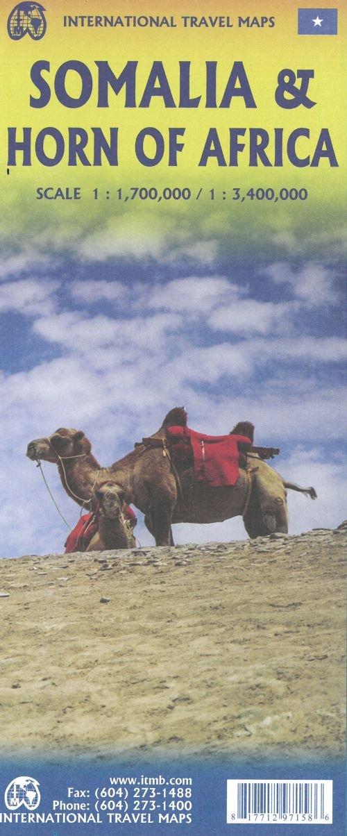 Somalia | landkaart, autokaart 1:1.700.000 9781771297158  ITM   Landkaarten en wegenkaarten Ethiopië, Somalië, Eritrea