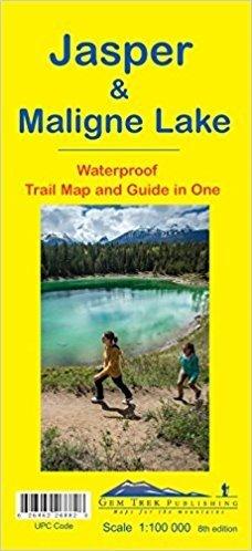Jasper + Maligne Lake  1:100.000 9781895526882  Gem Trek Publishing Wandelkaarten Canada  Wandelkaarten West-Canada, Rockies