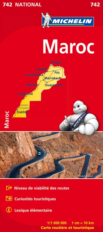 742 Marokko 1:1.000.000 9782067202849  Michelin   Landkaarten en wegenkaarten Marokko