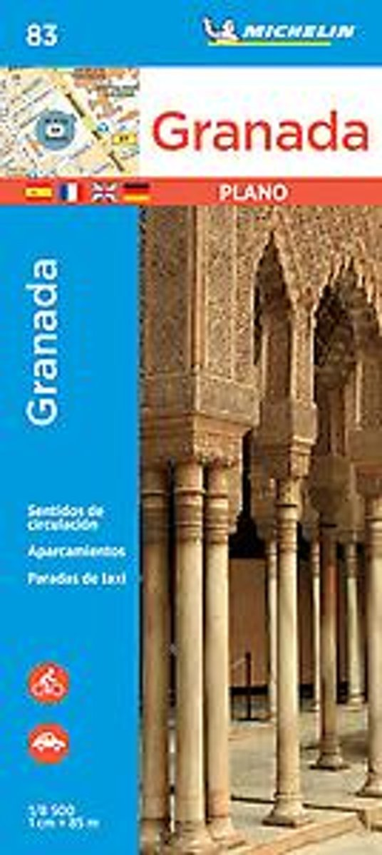 Granada 1:8.000 9782067237001  Michelin Stadsplattegronden  Stadsplattegronden Andalusië