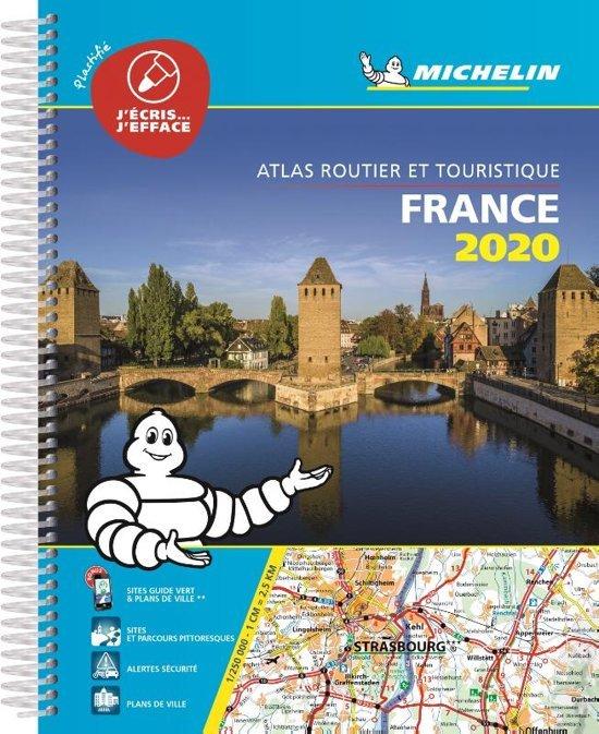 France Tourisme 1/250.000 (A4 multiflex) 2020 9782067242272  Michelin Wegenatlassen  Wegenatlassen Frankrijk