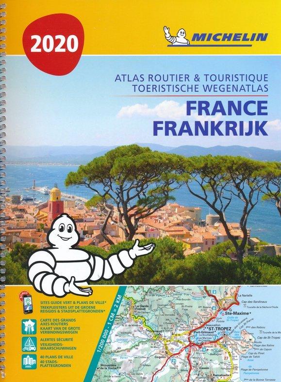 Frankrijk Wegenatlas 1/200.000 spiraalband 2020 / Michelin 9782067242302  Michelin Wegenatlassen  Wegenatlassen Frankrijk