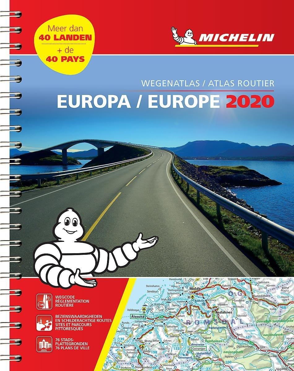 136 Europa Wegenatlas 2020 (spiraalband) 9782067244498  Michelin Wegenatlassen  Wegenatlassen Europa