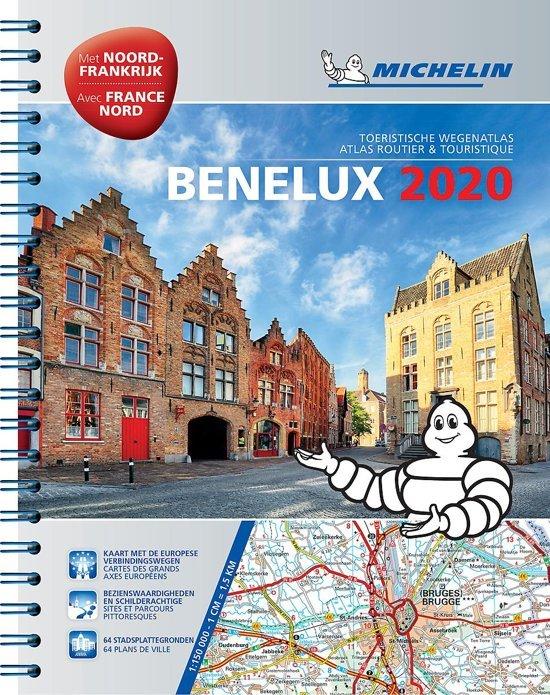 Benelux Wegenatlas 2020 9782067244504  Michelin Wegenatlassen  Wegenatlassen Benelux