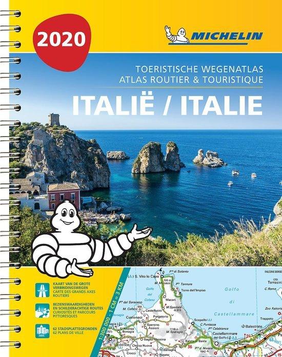 468  Italie Atlas 1:300.000 2020 (spiraalband) 9782067244528  Michelin Wegenatlassen  Wegenatlassen Italië