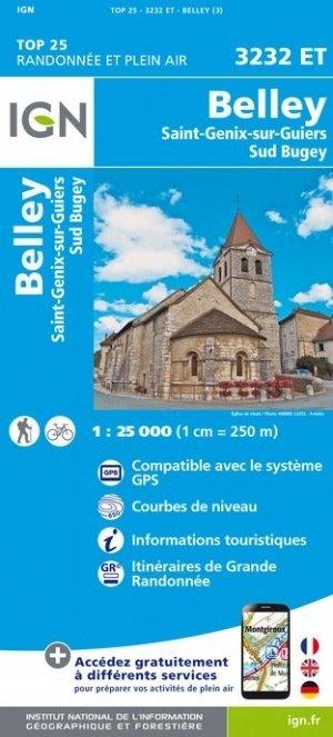 3232ET   Belley, St-Genix-sur-Guiers | wandelkaart 1:25.000 9782758541806  IGN TOP 25  Wandelkaarten Franse Alpen: noord