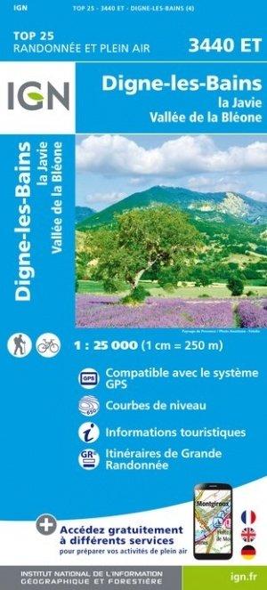 3440ET Digne-les-Bains, La Javie | wandelkaart 1:25.000 9782758543299  IGN TOP 25  Wandelkaarten tussen Valence, Briançon, Camargue en Nice