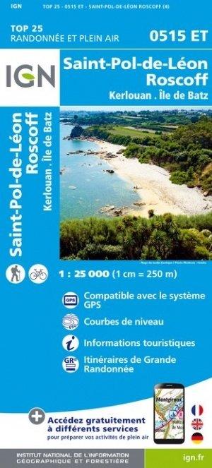 0515ET  St.Pol-de-Léon, Roscoff | wandelkaart 1:25.000 9782758545125  IGN TOP 25  Wandelkaarten Bretagne