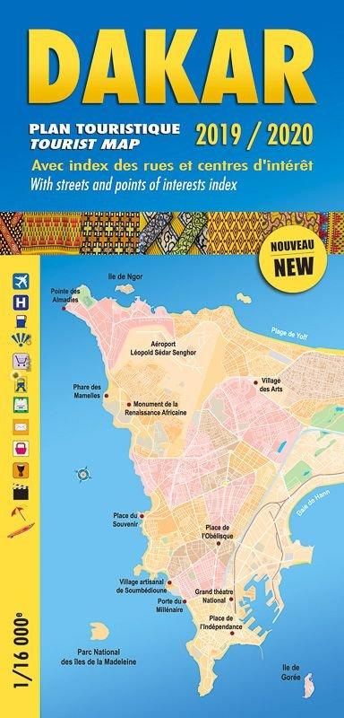Dakar 1:16.000 9782917495292  Laure Kane Villes en Couleurs  Stadsplattegronden West-Afrikaanse kustlanden (van Senegal tot en met Nigeria)