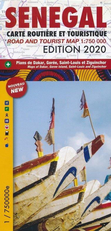 Senegal 1:750.000 9782917495308  Laure Kane   Landkaarten en wegenkaarten West-Afrikaanse kustlanden (van Senegal tot en met Nigeria)