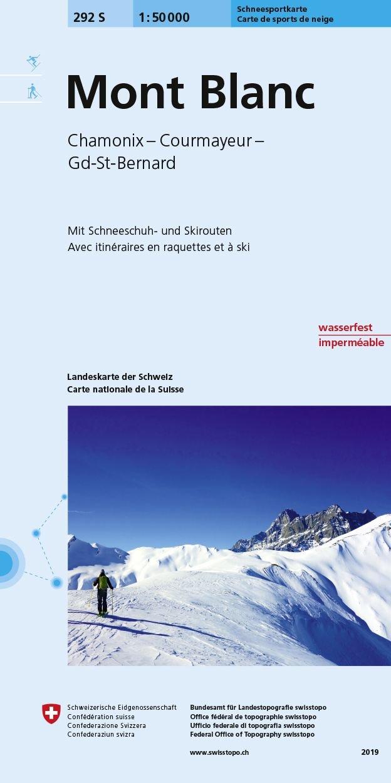 S292 Mont Blanc / Chamonix / Courmayeur / Grand-St-Bernard 9783302202921  Bundesamt / Swisstopo Skirouten 1:50.000  Wintersport Haute Savoie, Mont Blanc, Wallis