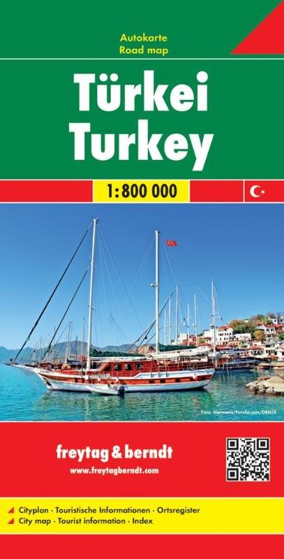 Turkije   autokaart, wegenkaart 1:800.000 9783707909616  Freytag & Berndt   Landkaarten en wegenkaarten Turkije