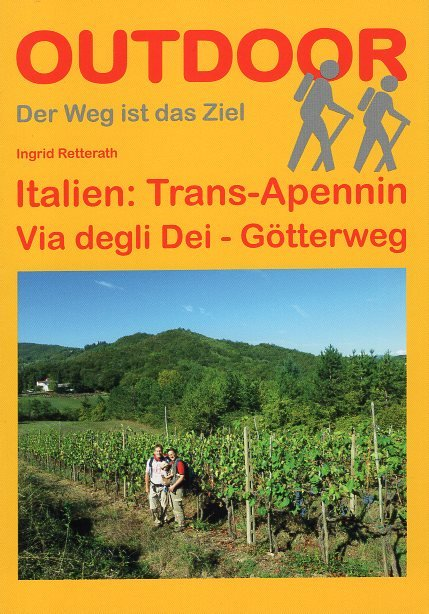 Trans-Apennin (Via degli Dei, Götterweg) | wandelgids (Duitstalig) 9783866860919 Ingrid Retterath Conrad Stein Verlag Outdoor - Der Weg ist das Ziel  Lopen naar Rome, Wandelgidsen Italië