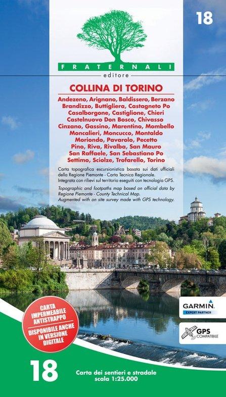 FRA-18  Collina di Torino   wandelkaart 1:25.000 9788897465164  Fraternali Editore   Wandelkaarten Turijn, Piemonte