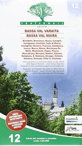 FRA-12  Bassa Val Varaita, Bassa Val Maira | wandelkaart 1:25.000 9788897465324  Fraternali Editore   Wandelkaarten Turijn, Piemonte