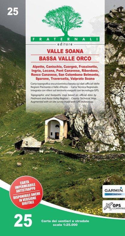 FRA-25 Valle Orco - Val Soana   wandelkaart 1:25.000 9788897465362  Fraternali Editore   Wandelkaarten Turijn, Piemonte