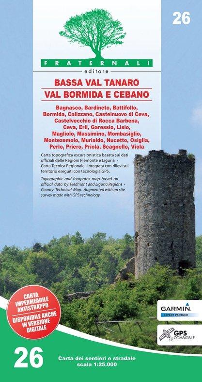 FRA-26 Alta Val Tanaro - Alta Valle Bormida di Millesimo   wandelkaart 1:25.000 9788897465379  Fraternali Editore   Wandelkaarten Turijn, Piemonte