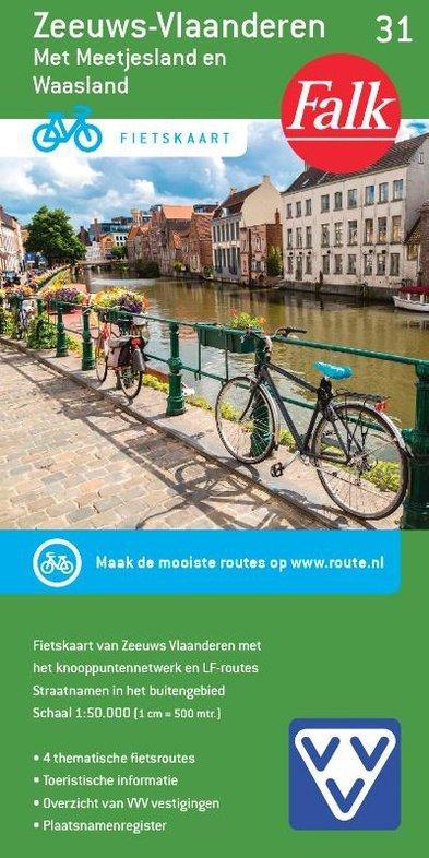 FFK-31 Zeeuws-Vlaanderen 9789028700413  Falk Fietskaarten met Knooppunten  Fietskaarten Vlaanderen & Brussel, Zeeland