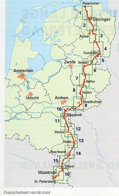 Fietsen langs het Pieterpad   Robert Poutsma 9789038926940  Elmar meerdaagse fietsroutes (NL)  Fietsgidsen, Meerdaagse fietsvakanties Nederland