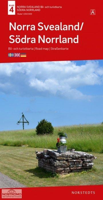 SE-4  Norra Svealand, Södra Norrland 1:250.000 9789113106007  Kartförlaget - Lantmäteriet Bil- och Turistkarta  Landkaarten en wegenkaarten Zweden boven Uppsala