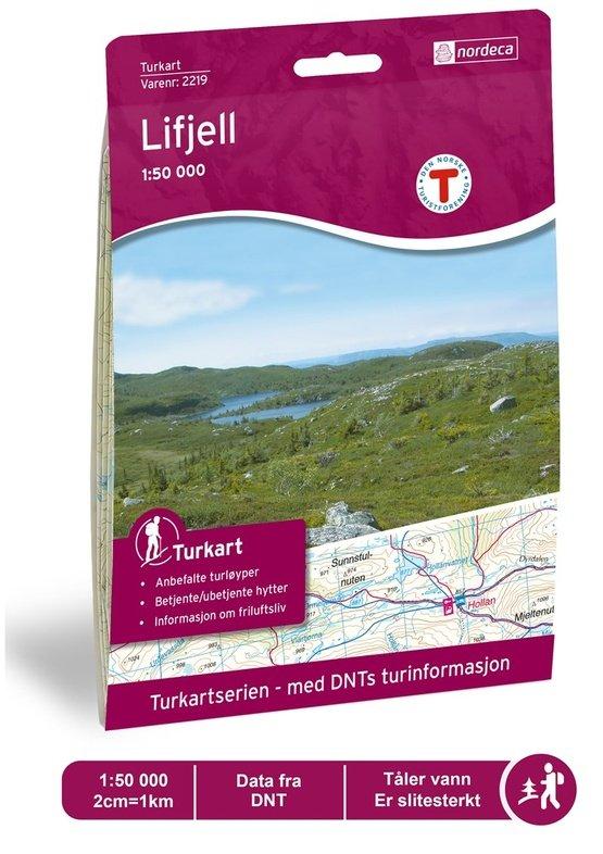 UG-2219  Lifjell kaart  | topografische wandelkaart 1:50.000 7046660022191  Nordeca / Ugland Turkart Norge 1:50.000  Wandelkaarten Zuid-Noorwegen