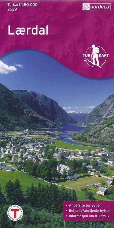 UG-2529  Laerdal   topografische wandelkaart 1:50.000 7046660025291  Nordeca / Ugland Turkart Norge 1:50.000  Wandelkaarten Zuid-Noorwegen
