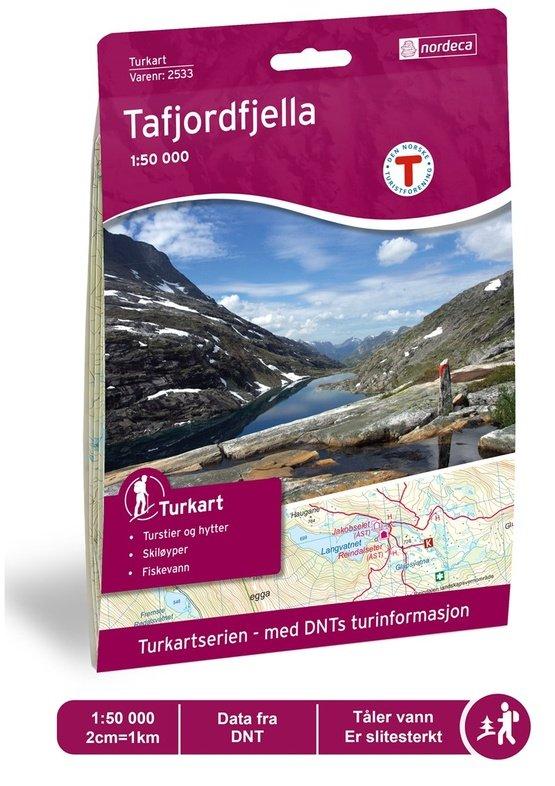 UG-2533  Tafjordfjella | topografische wandelkaart 1:50.000 7046660025338  Nordeca / Ugland Turkart Norge 1:50.000  Wandelkaarten Noorwegen boven de Sognefjord