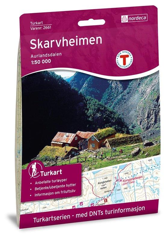 UG-2661  Skarvheimen   topografische wandelkaart 1:50.000 7046660026618  Nordeca / Ugland Turkart Norge 1:50.000  Wandelkaarten Zuid-Noorwegen