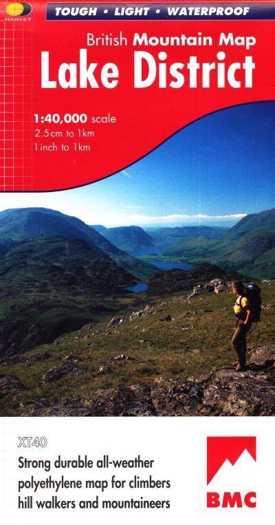 Lake District, British Mountain Map 1:40.000 9781851374670  Harvey Maps   Wandelkaarten Lake District