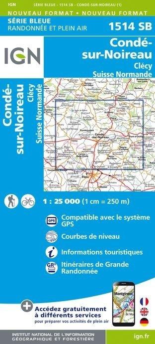 SB-1514SB Condé-sur-Noireau, la Suisse Normande | wandelkaart 1:25.000 9782758538684  IGN Serie Bleue (vernieuwd)  Wandelkaarten Normandië