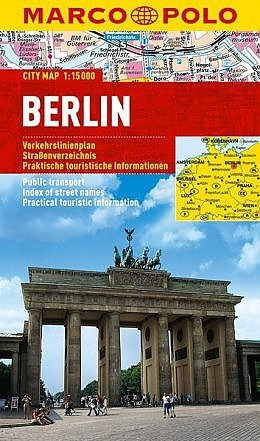 Berlin | Marco Polo stadsplattegrond Berlijn 1:15.000 9783829741552  Marco Polo (D) MP stadsplattegronden  Stadsplattegronden Berlijn