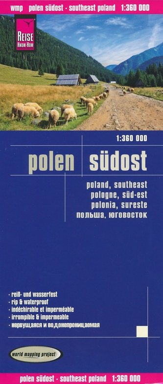 landkaart, wegenkaart Zuidoost-Polen 1:360.000 9783831773602  Reise Know-How WMP Polyart  Landkaarten en wegenkaarten Polen