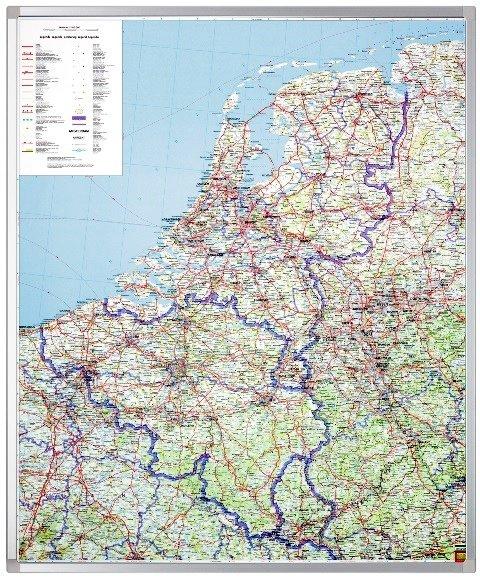 Benelux 1:500.000 / ongevouwen in koker FBP.AK80  Freytag & Berndt   Wandkaarten Benelux