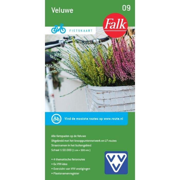 FFK-09  Veluwe | VVV fietskaart 1:50.000 9789028703490  Falk Fietskaarten met Knooppunten  Fietskaarten Arnhem en de Veluwe