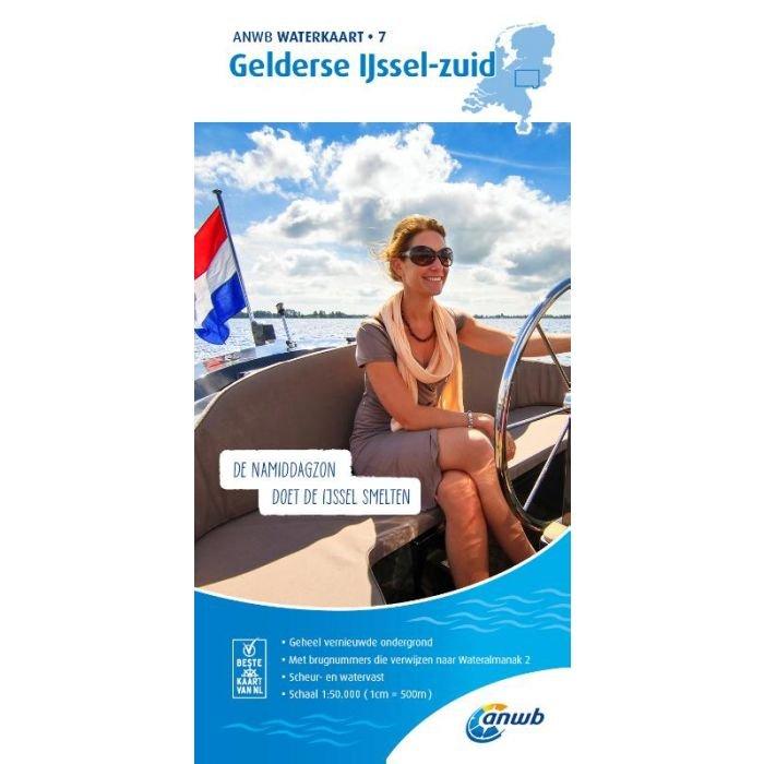 WTK-07 Gelderse IJssel - zuid Waterkaart 9789018046026  ANWB ANWB Waterkaarten  Watersportboeken Gelderse IJssel en Achterhoek