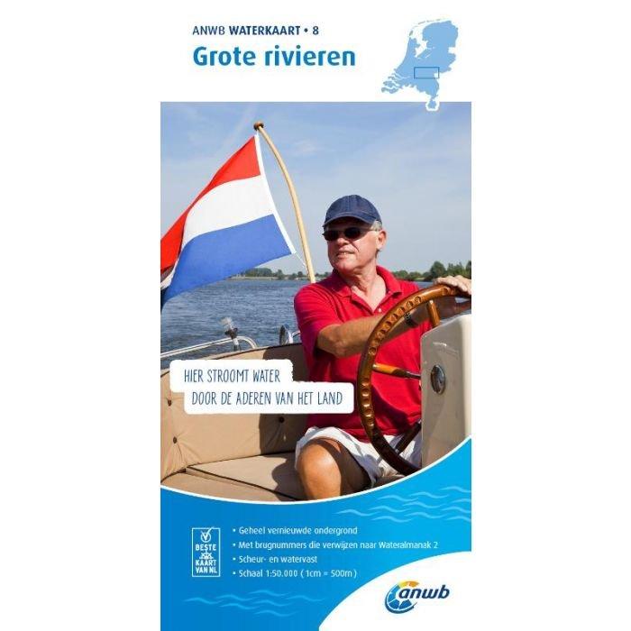 WTK-08 Grote Rivieren Waterkaart 9789018046033  ANWB ANWB Waterkaarten  Watersportboeken Nijmegen en het Rivierengebied