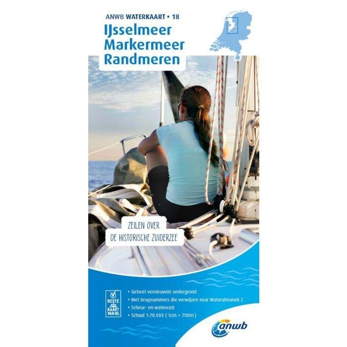 WTK-18 IJsselmeer-Markermeer / Randmeren Waterkaart 9789018046132  ANWB ANWB Waterkaarten  Watersportboeken Flevoland en het IJsselmeer