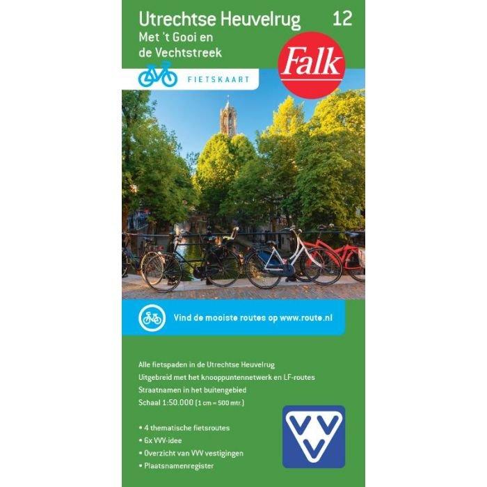 FFK-12  Utrechtse Heuvelrug 1:50.000 9789028701076  Falk Fietskaarten met Knooppunten  Fietskaarten Utrecht