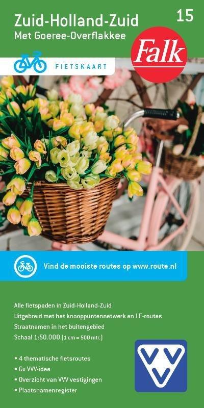 FFK-15  Zuid-Holland / Zuid 1:50.000 9789028701090  Falk Fietskaarten met Knooppunten  Fietskaarten Den Haag, Rotterdam en Zuid-Holland