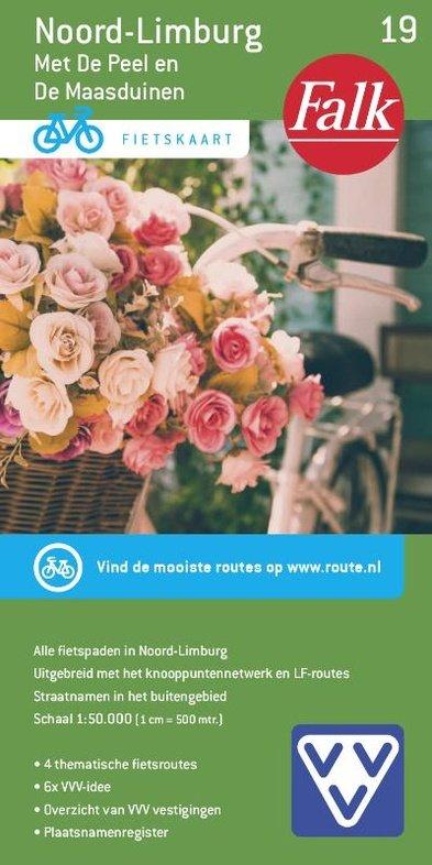FFK-19  Noord- en Midden-Limburg 1:50.000 9789028724501  Falk Fietskaarten met Knooppunten  Fietskaarten Noord- en Midden-Limburg