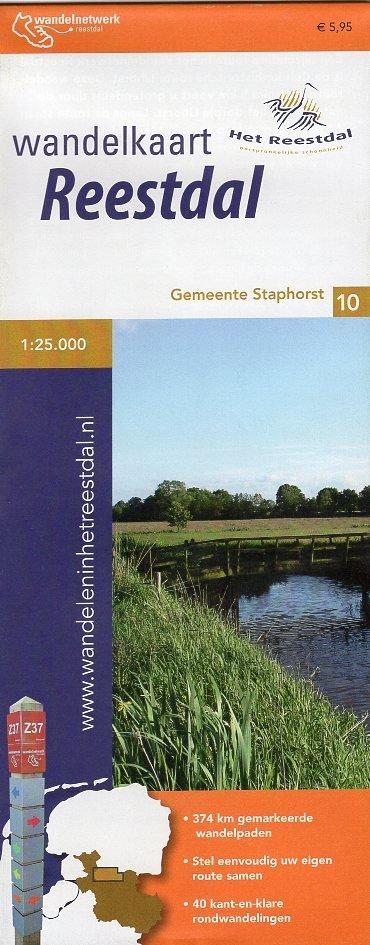 Wandelkaart Reestdal  1:25.000 9789082046533  Marketing Oost Wandelnetwerk Overijssel  Wandelkaarten Kop van Overijssel, Vecht & Salland