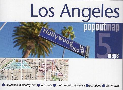 Los Angeles pop out map   stadsplattegrondje in zakformaat 9781910218273  Grantham Book Services PopOut Maps  Stadsplattegronden California, Nevada