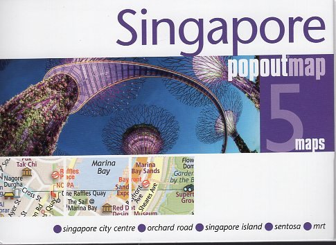 Singapore pop out map | stadsplattegrondje in zakformaat 9781910218679  Grantham Book Services PopOut Maps  Stadsplattegronden Singapore