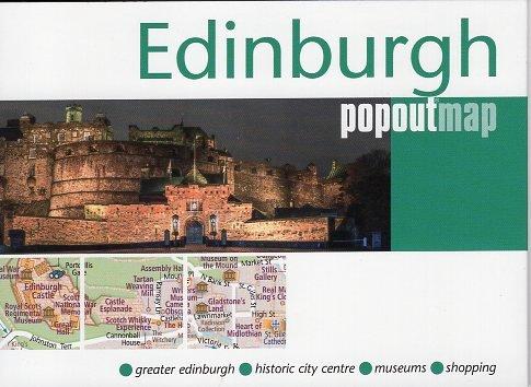 Edinburgh pop out map | stadsplattegrondje in zakformaat 9781910218853  Grantham Book Services PopOut Maps  Stadsplattegronden Edinburgh
