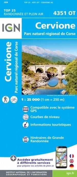 4351OT  Cervione, Sermano,  | wandelkaart 1:25.000 9782758546924  IGN TOP 25  Wandelkaarten Corsica
