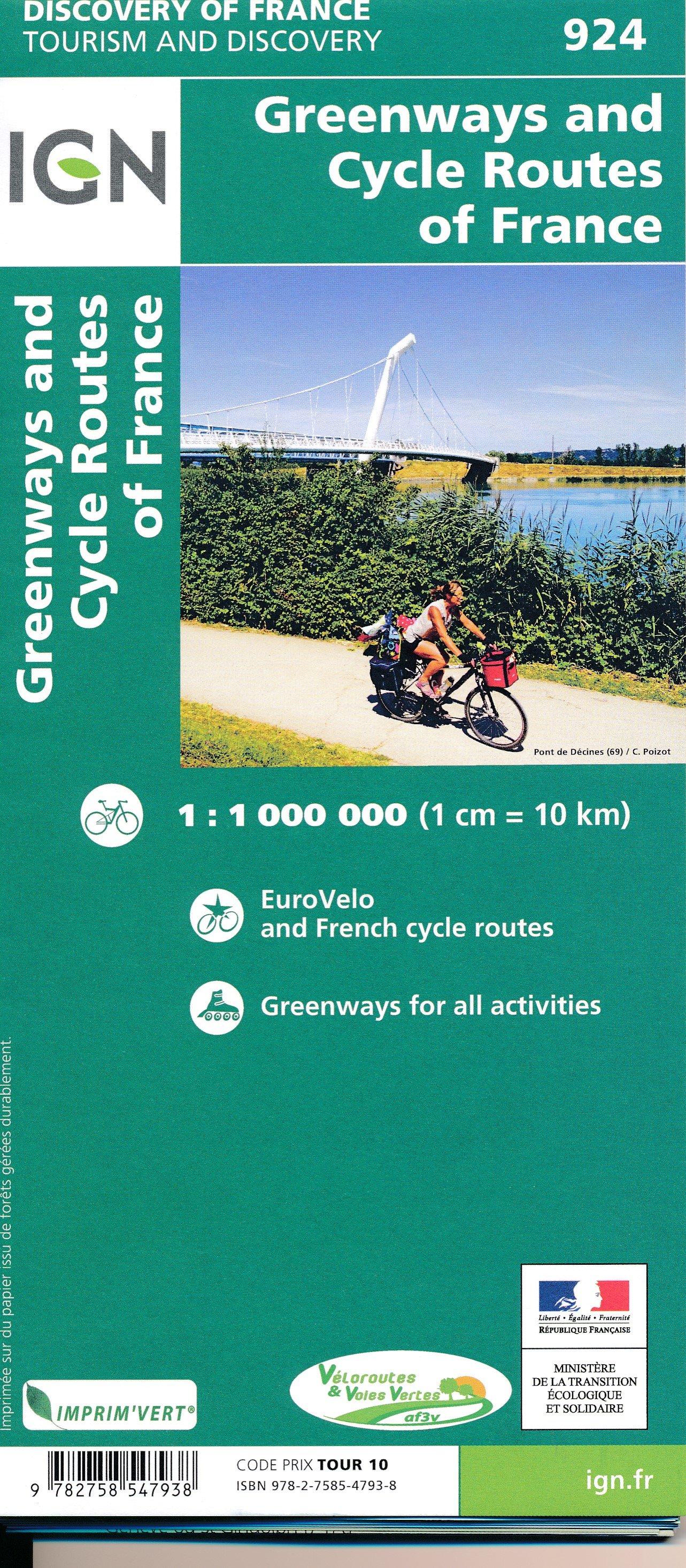 924 Fietskaart Frankrijk - overzichtskaart LF routes1:1.000.000 9782758547938  IGN   Fietskaarten, Meerdaagse fietsvakanties Frankrijk