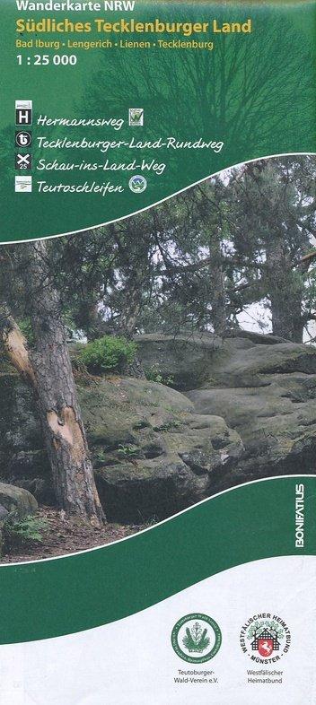 Südliches Tecklenburger Land | wandelkaart 1:25.000 9783897105584  Bonifatius Grüne Reihe  Wandelkaarten Teutoburger Woud & Ostwestfalen