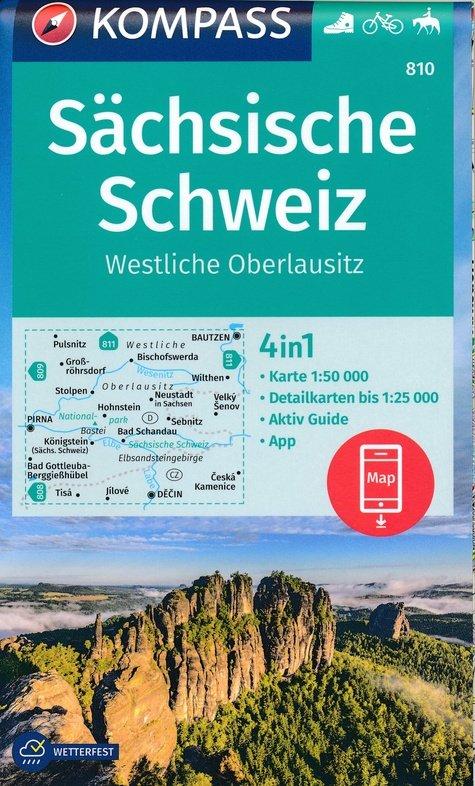 KP-810  Sächsische Schweiz | Kompass wandelkaart 9783990447499  Kompass Wandelkaarten Kompass Duitsland  Wandelkaarten Erzgebirge, Elbsandsteingebirge, Lausitz